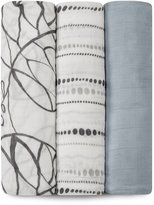 Aden Anais Aden + Anais Rayon From Bamboo Fiber Muslin Swaddle 3-Pack, Moonlight