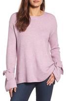 Halogen Petite Women's Tie Bell Sleeve Sweater
