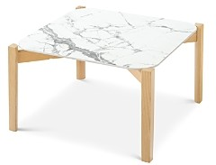 Calligaris Palette White Marble Cocktail Table