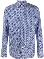 Canali long-sleeved floral-print shirt