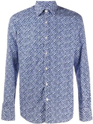 Canali Long-Sleeved Floral-Print Shirt