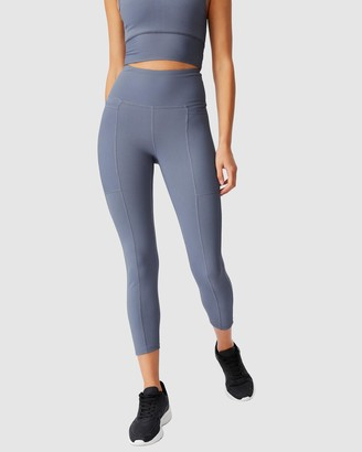 Cotton On Body Active - Women's Grey Tights - Rib Pocket 7-8 Tights - Size S at The Iconic