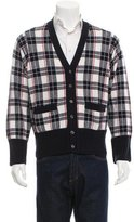 Black Fleece Cashmere Pattern Knit Cardigan