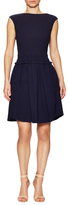 Carven Bateau Neck Cotton Flared Dress