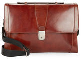 Bosca Leather Flap-Top Brief Case