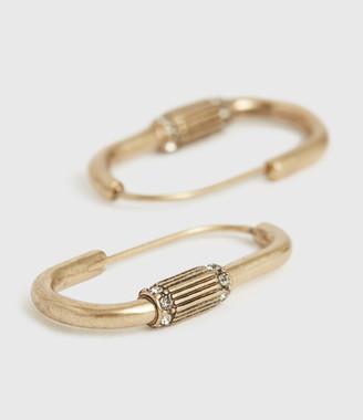 AllSaints Mica Gold-Tone Hoop Earrings