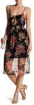 Mimichica Mimi Chica Floral Mesh Midi Dress