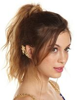 Charlotte Russe Metallic Leaves Ear Cuff