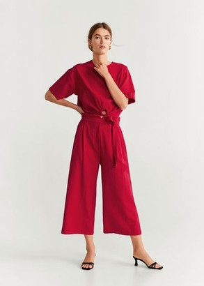 MANGO Cotton culotte trousers red - XS - Women