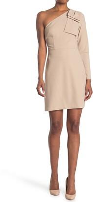 Donna Morgan One Shoulder Bow Mini Dress