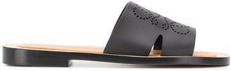 Loewe Perforated Anagram Sandals