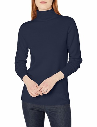 Amazon Essentials Women's Long-Sleeve 100% Cotton Roll Neck Sweater