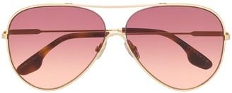 Victoria Beckham Tinted Aviator Sunglasses