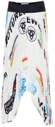 Marine Serre Logo pleated midi skirt