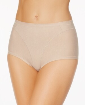 Leonisa Women's Light Control High-Waist Panty in Cotton 01214A