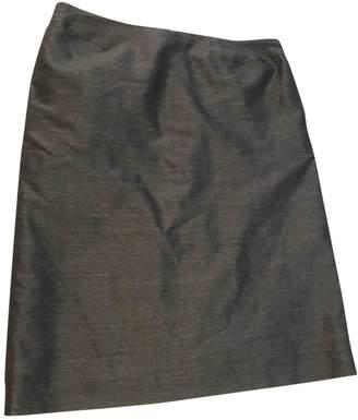 Martine Sitbon Grey Wool Skirt for Women