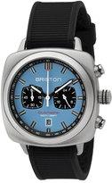 Briston Clubmaster Sport Chronograph Watch, Black/Light Blue