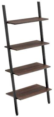 Foundstone Alan Industrial Ladder Bookcase Foundstone Color: Dark Brown