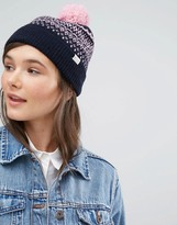 Jack Wills Fairisle Hat With Pom Pom