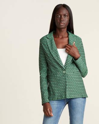 Mariella Rosati Metallic Print Sport Jacket