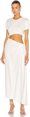 CHRISTOPHER ESBER Rolled Up Tee Dress in Natural | FWRD