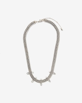 Express Pearl & Rhinestone Chain Necklace