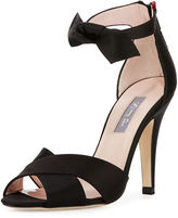 Sarah Jessica Parker Buckingham Satin Ankle-Tie Sandal