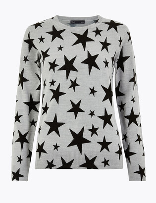 Marks and Spencer Star Crew Neck Jumper