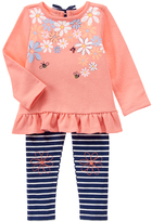 Gymboree Sunkist Coral Floral Ruffle Tee & Leggings - Infant & Toddler