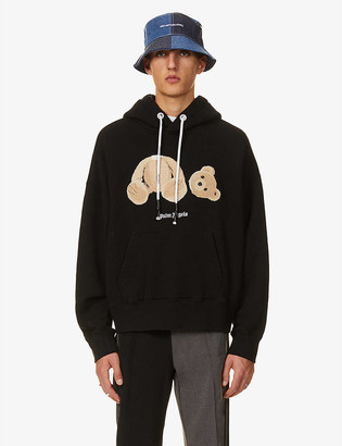 Palm Angels Bear branded cotton-jersey hoody