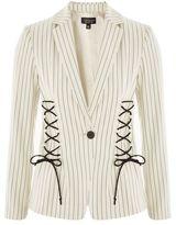 Topshop Striped corset detail blazer