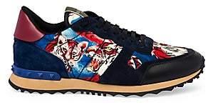 Valentino Men's Garavani Rockrunner Tiger Print Sneakers