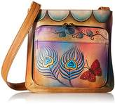 Anuschka Handpainted Leather 7011-PKB Slim Shoulder Organizer