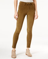 Free People So Plush High-Waist Olive Wash Skinny Jeans