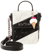 Betsey Johnson Split Decision Quilted Heart Crossbody