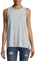 Current/Elliott The Muscle Striped Tee, Blue