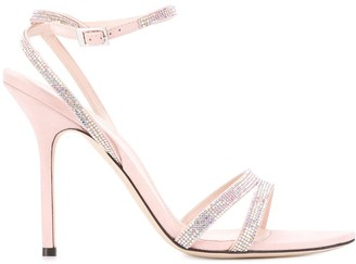 Pollini Embellished Open-Toe Sandals