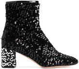 Rochas embellished metallic fitted boots