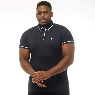 French Connection Mens Plus Size Piping Polo Marine