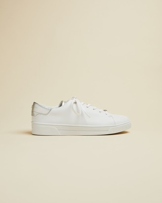 Ted Baker ZENIS Metallic detail leather trainers