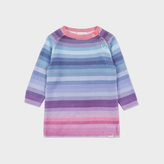 Paul Smith Baby Girls' Rainbow-Stripe Knitted 'Malia' Dress