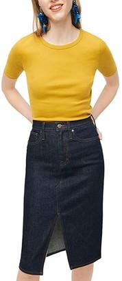 J.Crew Slim Perfect T-Shirt (Bronzed Olive) Women's Clothing
