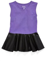 Flowers by Zoe Faux Leather Peplum Top (Toddler Girls & Little Girls) (Online Only)