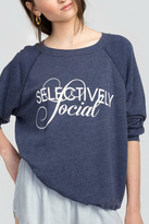 Wildfox Couture Selectively Social Sweatshirt