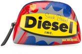 Diesel logo print clutch - women - Leather - One Size