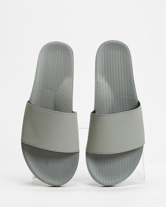 Indosole - Women's Grey Flat Sandals - ESSENTLS Slides - Women's - Size 6/7 at The Iconic