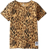 Mini Rodini Basic Leopard Short Sleeve Tee Girl's T Shirt