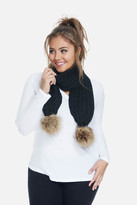 Fashion to Figure Boston Faux Fur Pompom Scarf