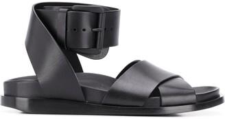 Ann Demeulemeester Crossover Strap Flat Sandals