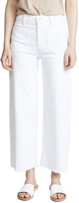 Hudson Women's Holly HIGH Rise Wide Leg Crop RAW Hem Jean